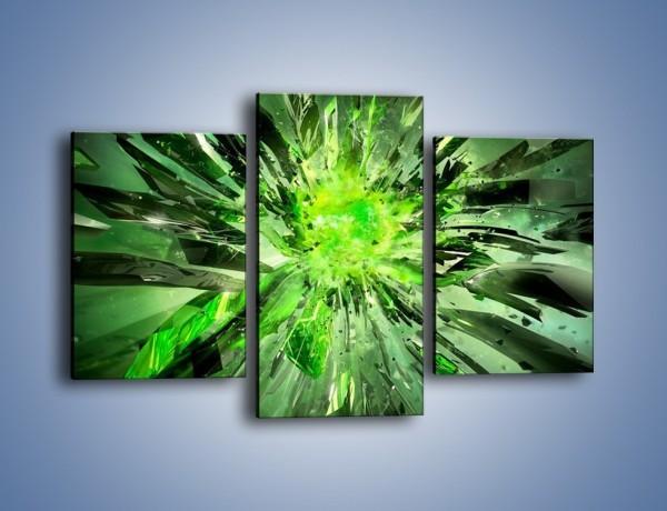 Obraz na płótnie – Ostre kawałki zieleni – trzyczęściowy GR422W3