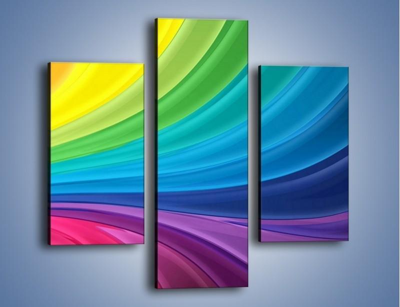 Obraz na płótnie – Zachowane kolory tęczy – trzyczęściowy GR424W3