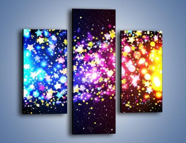 Obraz na płótnie – Kolory widziane nocą – trzyczęściowy GR432W3
