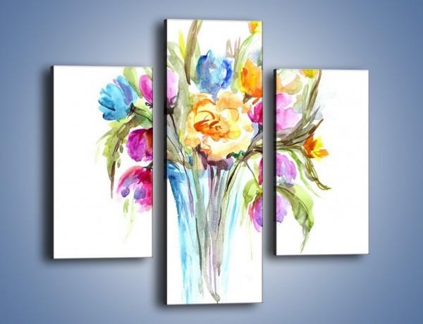 Obraz na płótnie – Wazonik z kwiatami – trzyczęściowy GR446W3