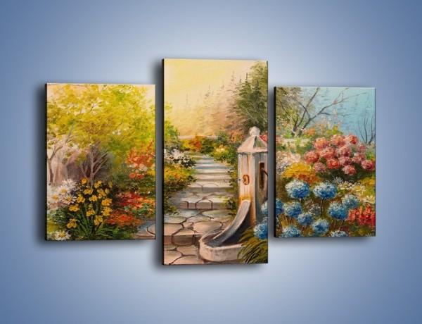 Obraz na płótnie – Ogród marzeń – trzyczęściowy GR463W3