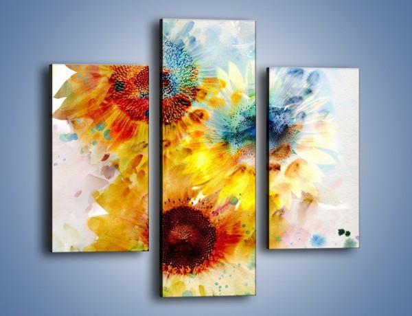 Obraz na płótnie – Ścięte słoneczniki – trzyczęściowy GR464W3