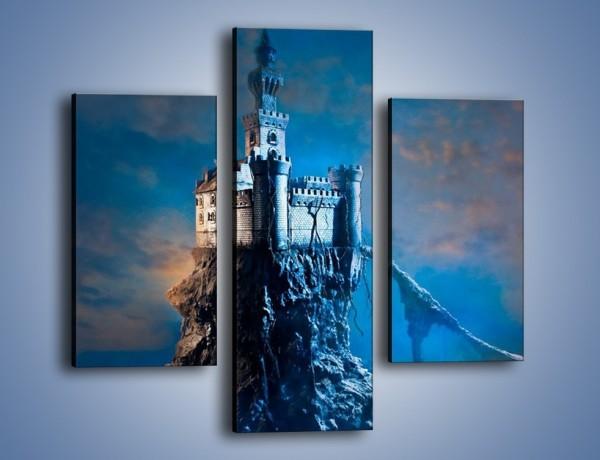Obraz na płótnie – Zamek nad przepaścią – trzyczęściowy GR467W3