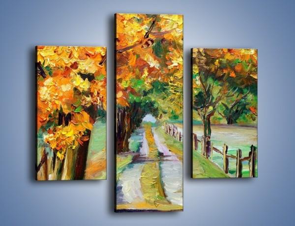 Obraz na płótnie – Aleją wśród drzew – trzyczęściowy GR487W3