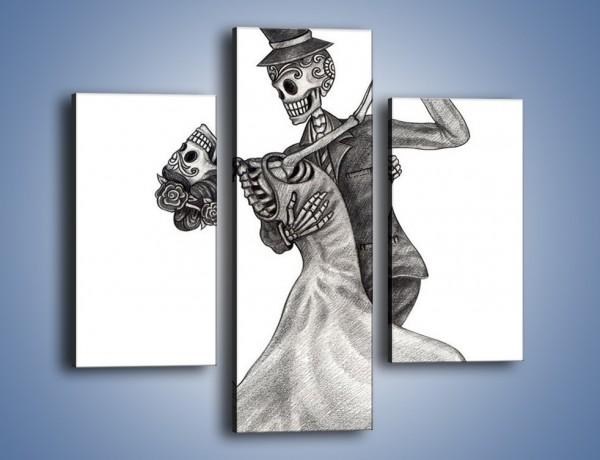 Obraz na płótnie – Tango wśród nieżywych – trzyczęściowy GR496W3