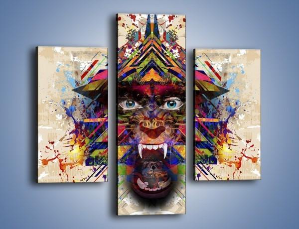 Obraz na płótnie – Groźny mimo kolorów – trzyczęściowy GR515W3