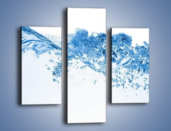Obraz na płótnie – Woda nie wszędzie wzburzona – trzyczęściowy GR523W3