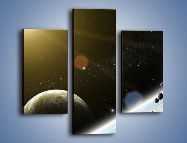 Obraz na płótnie – Dotrzeć między planety – trzyczęściowy GR534W3