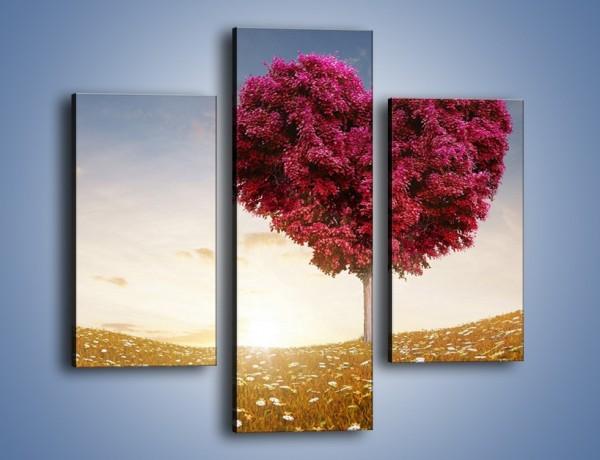 Obraz na płótnie – Drzewo pełne miłości – trzyczęściowy GR537W3
