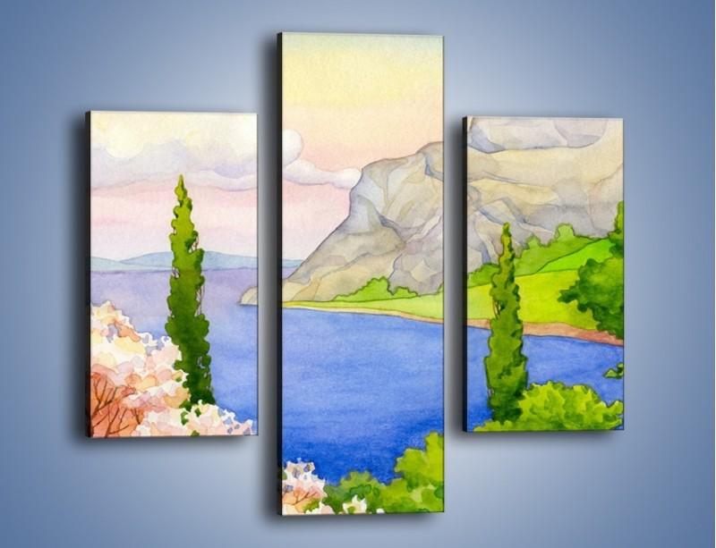 Obraz na płótnie – Krajobraz jak z pocztówki – trzyczęściowy GR541W3