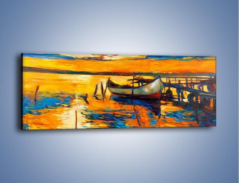 Obraz na płótnie – Żar w wodzie i na niebie – jednoczęściowy panoramiczny GR474