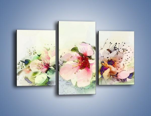 Obraz na płótnie – Kwiaty idealnie dobrane – trzyczęściowy GR552W3