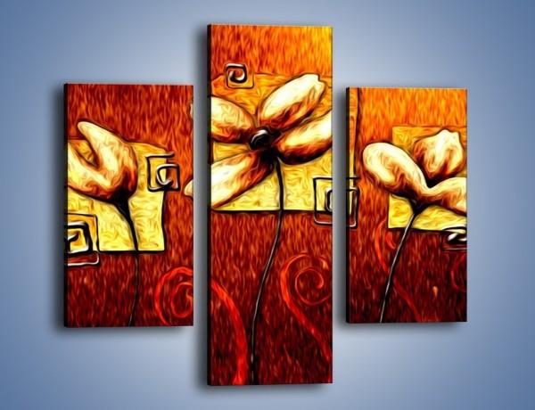 Obraz na płótnie – Płonące trio – trzyczęściowy GR586W3