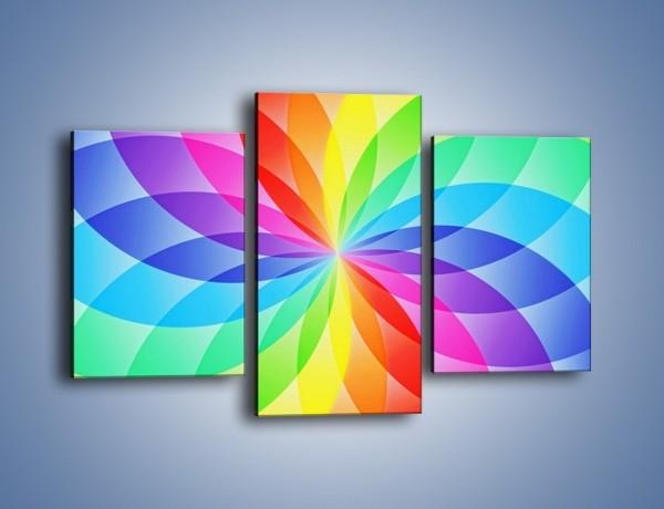 Obraz na płótnie – Płatki bardzo kolorowe – trzyczęściowy GR590W3