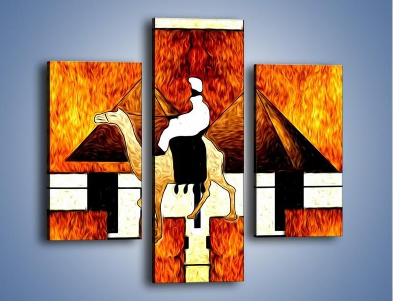 Obraz na płótnie – Wędrówka na wielbłądzie – trzyczęściowy GR593W3