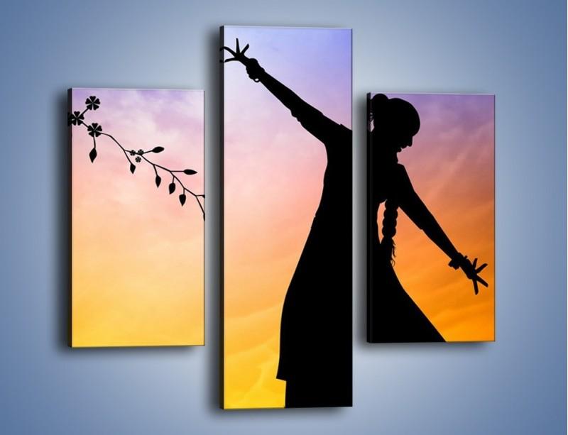 Obraz na płótnie – Wieczorny cygański taniec – trzyczęściowy GR597W3