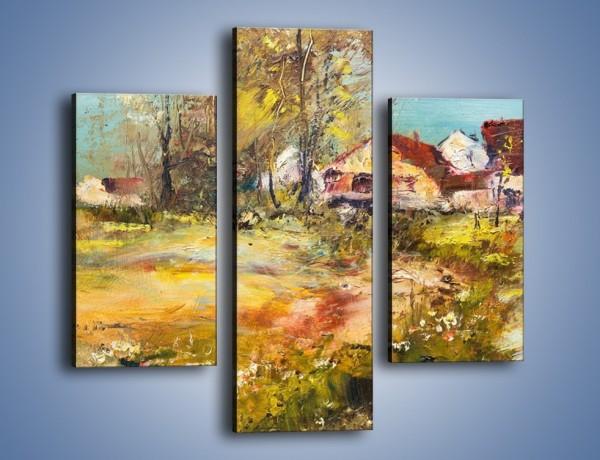 Obraz na płótnie – Wieś pędzlem malowana – trzyczęściowy GR614W3