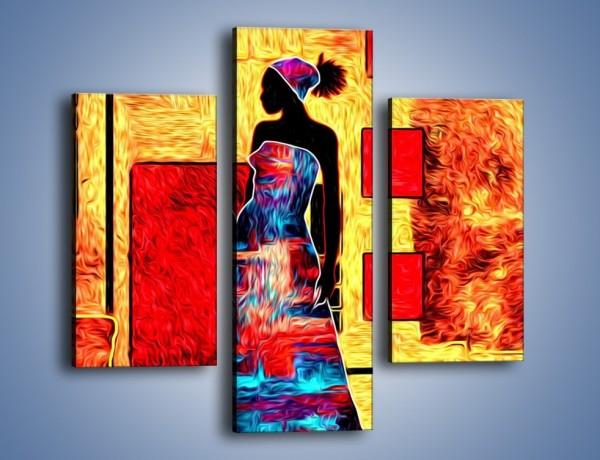 Obraz na płótnie – Kolory rozpalonej afryki – trzyczęściowy GR636W3