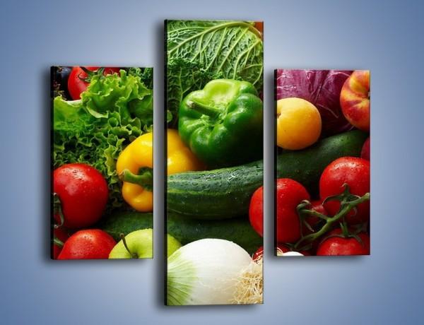 Obraz na płótnie – Mix warzywno-owocowy – trzyczęściowy JN006W3