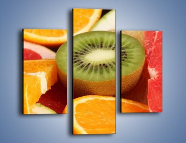Obraz na płótnie – Kolorowe połówki owoców – trzyczęściowy JN026W3