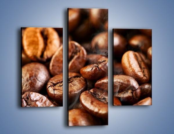 Obraz na płótnie – Parzone ziarna kawy – trzyczęściowy JN027W3