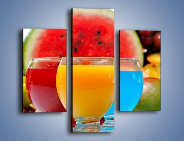 Obraz na płótnie – Kolorowe drineczki z soczystych owoców – trzyczęściowy JN029W3