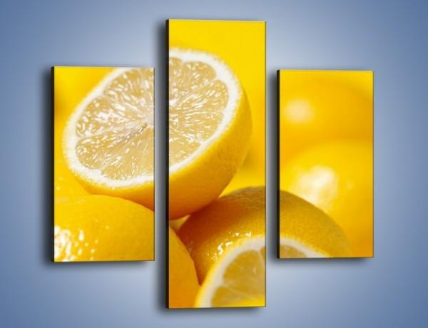 Obraz na płótnie – Kwaśne soczyste cytrynki – trzyczęściowy JN031W3