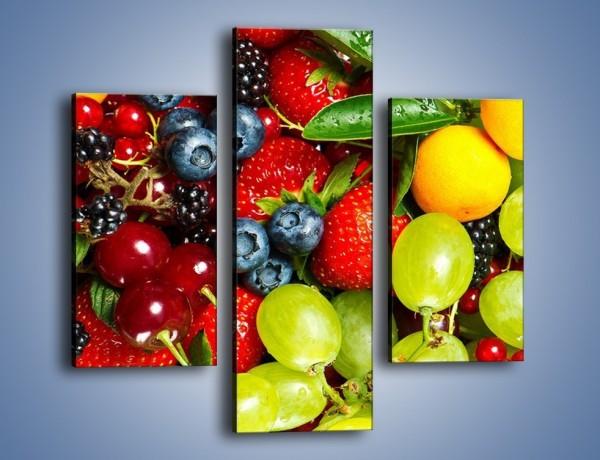 Obraz na płótnie – Wymieszane kolorowe owoce – trzyczęściowy JN037W3