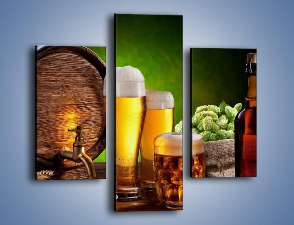 Obraz na płótnie – Pszenne piwo z beczki – trzyczęściowy JN053W3