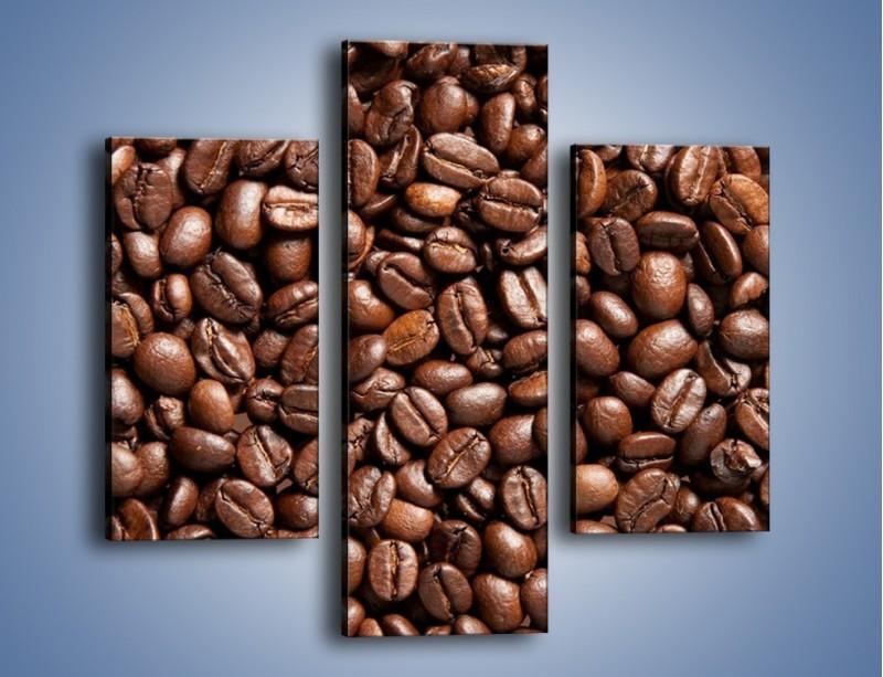 Obraz na płótnie – Ziarna świeżej kawy – trzyczęściowy JN061W3