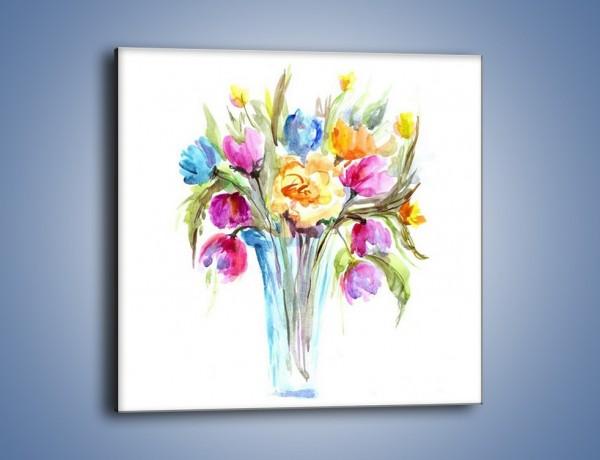 Obraz na płótnie – Wazonik z kwiatami – jednoczęściowy kwadratowy GR446