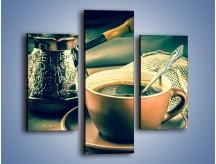 Obraz na płótnie – Czarna kawa arabica – trzyczęściowy JN064W3