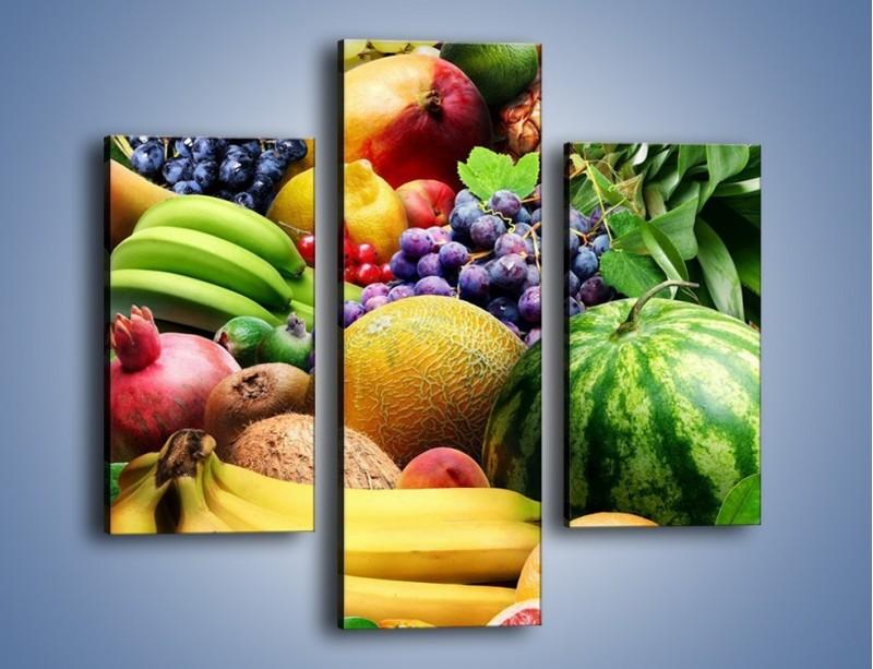Obraz na płótnie – Stół pełen dojrzałych owoców – trzyczęściowy JN072W3