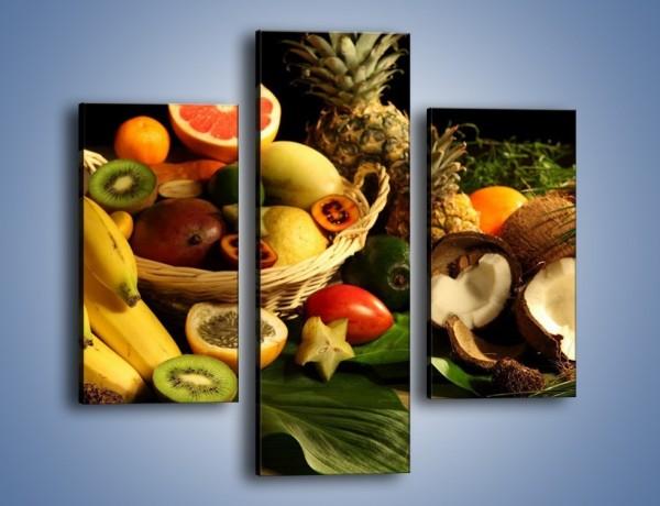 Obraz na płótnie – Kosz egzotycznych owoców – trzyczęściowy JN074W3