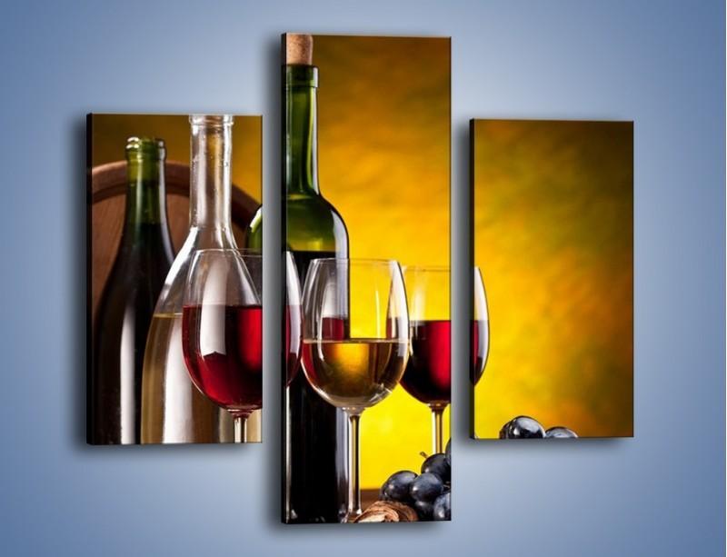 Obraz na płótnie – Wino z orzechami – trzyczęściowy JN077W3