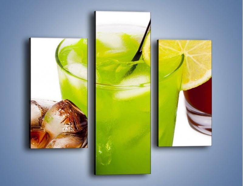 Obraz na płótnie – Kwaśno-słodkie drinki – trzyczęściowy JN093W3