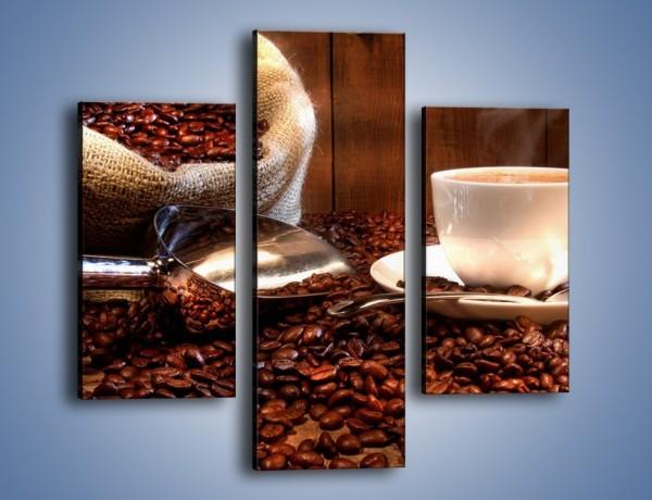Obraz na płótnie – Poranna energia z kawą – trzyczęściowy JN098W3