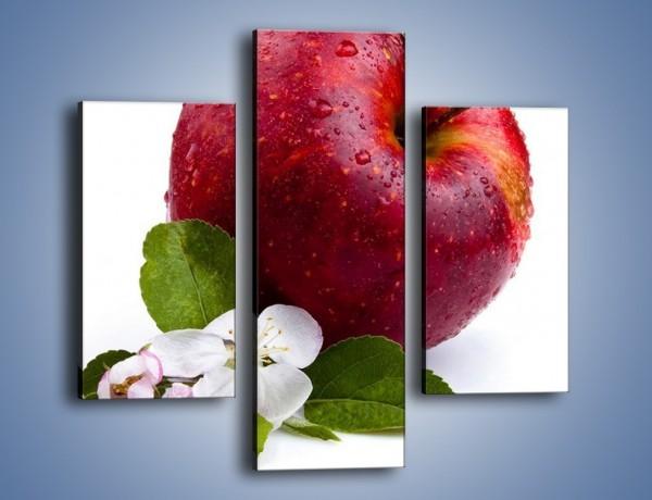 Obraz na płótnie – Polskie zdrowe jabłko – trzyczęściowy JN102W3
