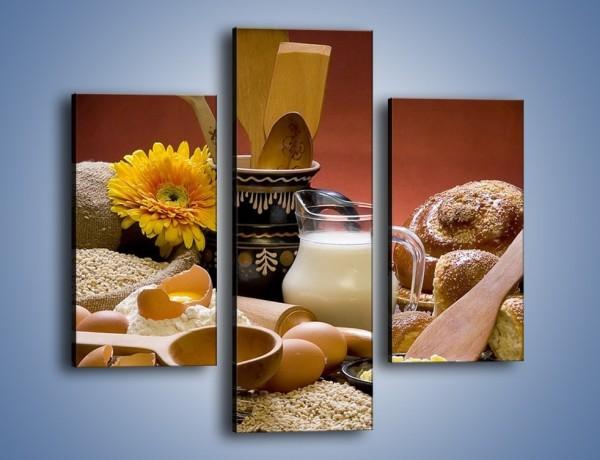 Obraz na płótnie – Produkty z nabiału i ziaren – trzyczęściowy JN103W3