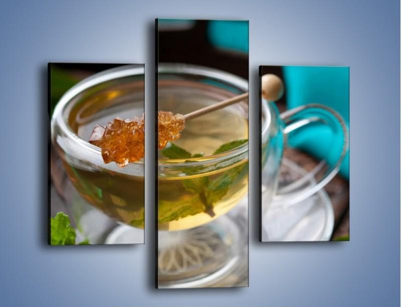 Obraz na płótnie – Oczyszczająca zielona herbata – trzyczęściowy JN104W3