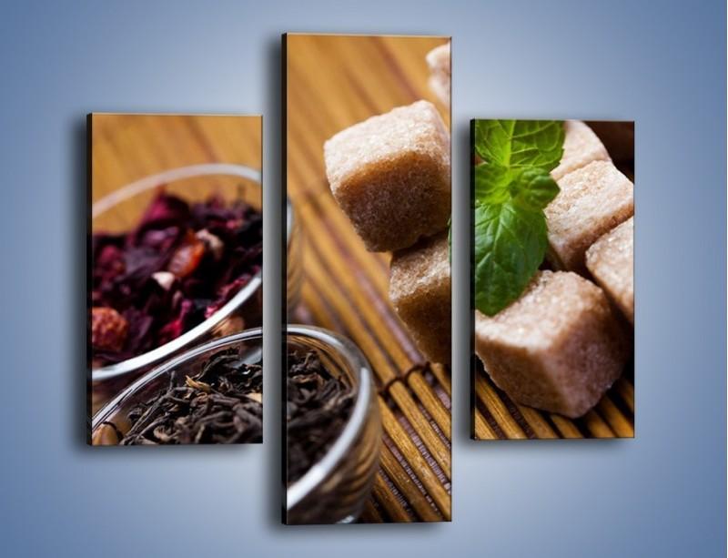 Obraz na płótnie – Ususzone bogactwa natury do herbaty – trzyczęściowy JN105W3