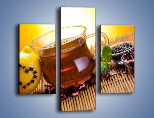 Obraz na płótnie – Herbaciane zdrowie pełne witamin – trzyczęściowy JN106W3