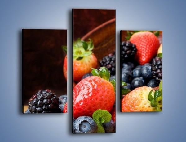 Obraz na płótnie – Misa pełna owocowego zdrowia – trzyczęściowy JN110W3