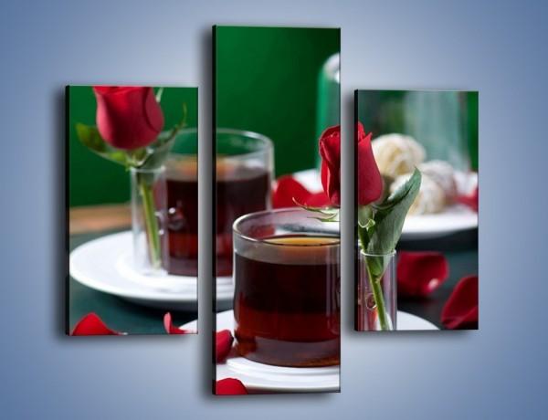 Obraz na płótnie – Herbata ze szczyptą miłości – trzyczęściowy JN119W3