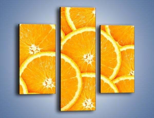 Obraz na płótnie – Pomarańczowy zawrót głowy – trzyczęściowy JN154W3