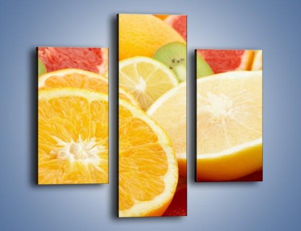 Obraz na płótnie – Kwaśny kęs witamin owocowych – trzyczęściowy JN157W3