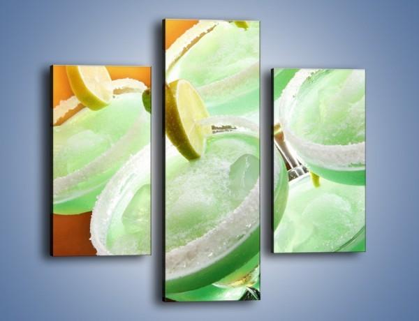Obraz na płótnie – Zielone alkoholowe szaleństwo – trzyczęściowy JN162W3