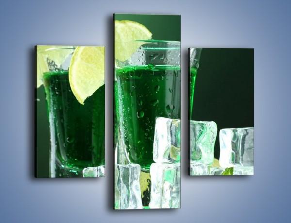 Obraz na płótnie – Zielona moc w kieliszku – trzyczęściowy JN164W3