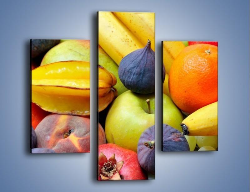 Obraz na płótnie – Owocowe kolorowe witaminki – trzyczęściowy JN173W3
