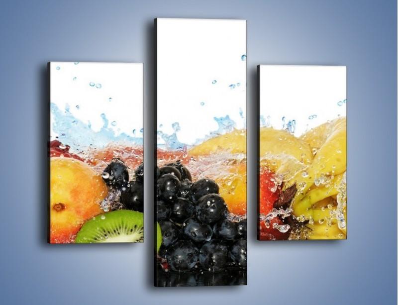 Obraz na płótnie – Owocowe nuty skąpane w wodzie – trzyczęściowy JN176W3